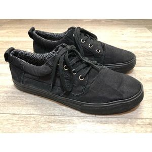Toms Black on Black Canvas Men's Lenox Sneakers 10